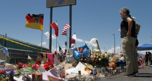 Walmart said it plans to reopen the El Paso store where 22 people were killed in a mass shooting, but the entire interior of the building will first be rebuilt. (AP Photo/Cedar Attanasio)
