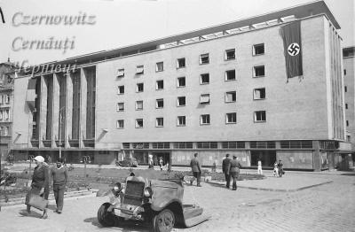 Про Чернівці в старих фото. Будинок офіцерів (колишній румунський народний дім).