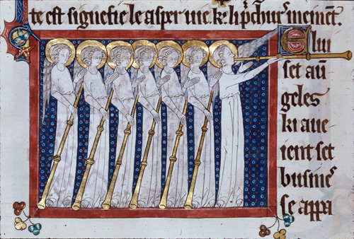 Seven angels with trumpets