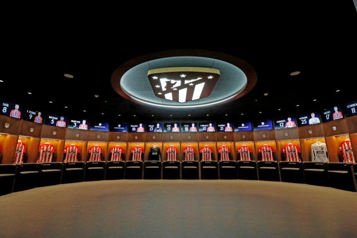 Vestuario del Wanda Metropolitano (Atletico de Madrid)