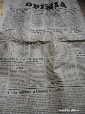 ziar Opinia 1949