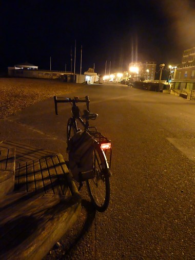 Pretty quiet along Worthing seafront...