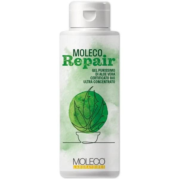Moleco Repair, gel di aloe vera purissimo, certificato bio.