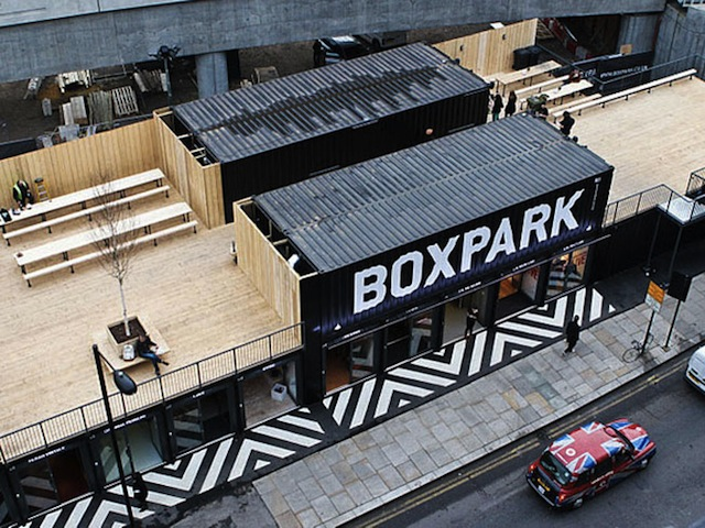Boxpark: First Shipping Container Pop-Up Mall in London