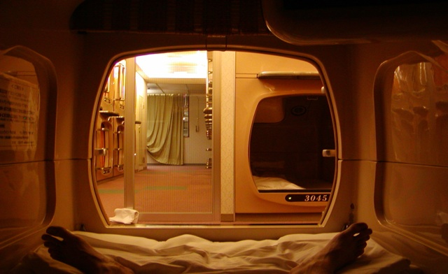 Japan's capsule hotels now coffin-sized homes