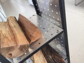 Perforated Metal Wood Rack