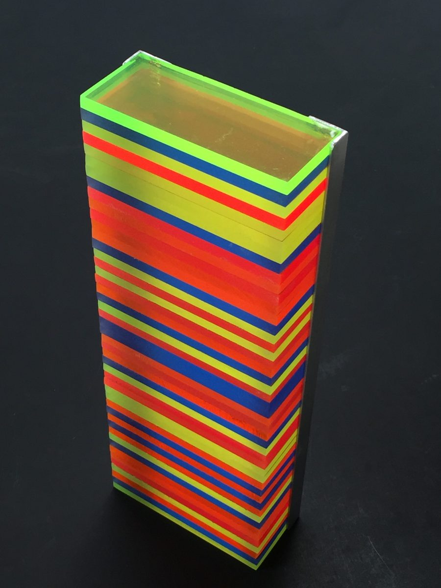 Across The Spectrum: Fluorescent Plexiglass Sculpture, by Colin Barker, Santa Fe, NM