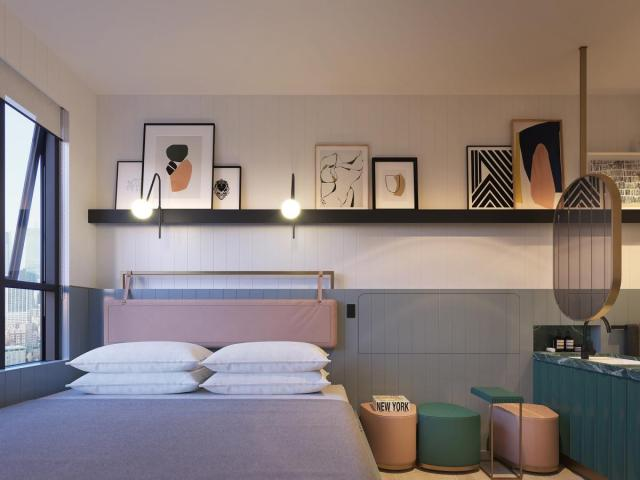 The muted palette adds a nice touch of modernity to Fifteen.