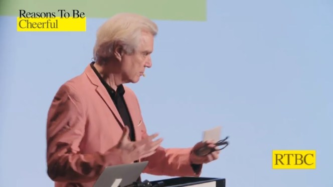 David Byrne, founder of Reasons to Be Cheerful