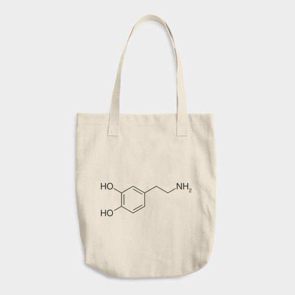 Dopamine Molecule Tote Bag