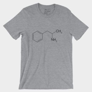 Amphetamine Molecule T-Shirt Athletic Heather