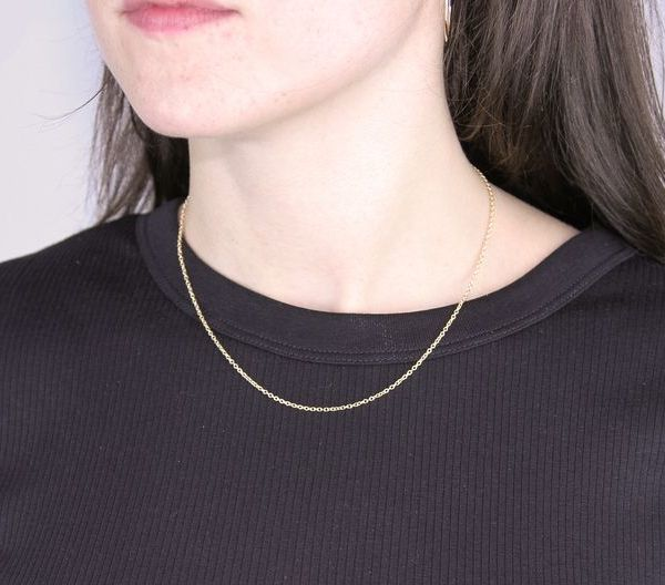 Yellow Gold-Filled Cable Chain 16in / 40.6cm