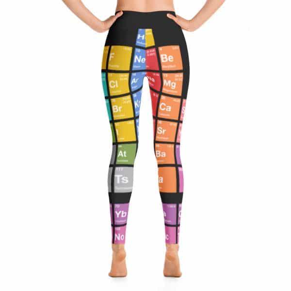 Periodic Table of Elements Yoga Leggings Black