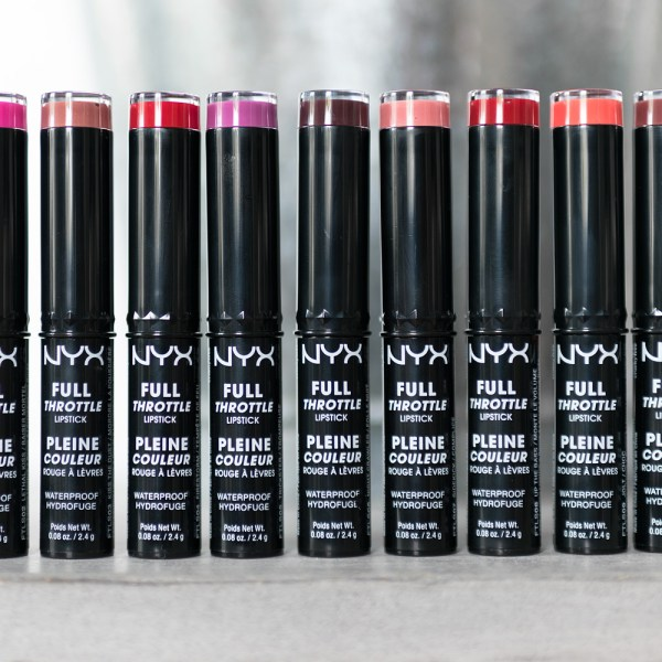 nyx full throttle lipsticks