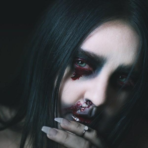 motd simple halloween makeup enkel halloweensminkning