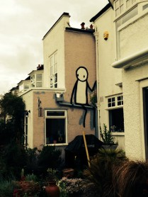 Stik in the garden of a Dulwich open house