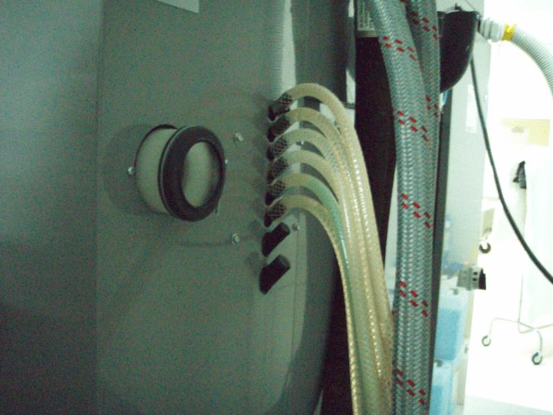 подключение насосов для подачи жидких моющих средств к стиральной машине