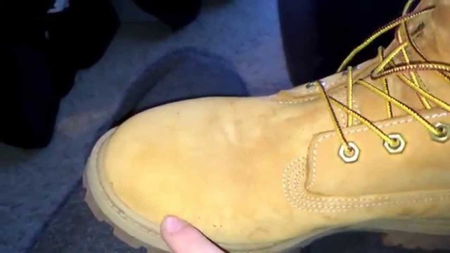 почистить ботинки timberland