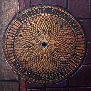 Art by Dwight - Pittsburgh Street Art - Manhole Rubbing