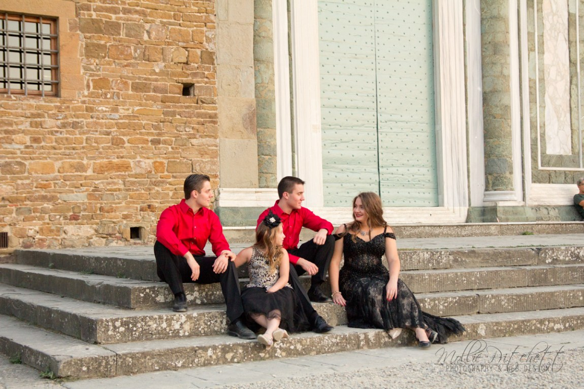 Family photoshoot at San Miniato al Monte Florence