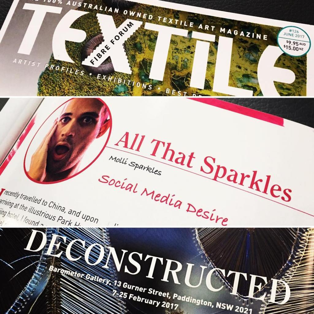 Im pulling double duty in the latest issue of textilefibreforumhellip