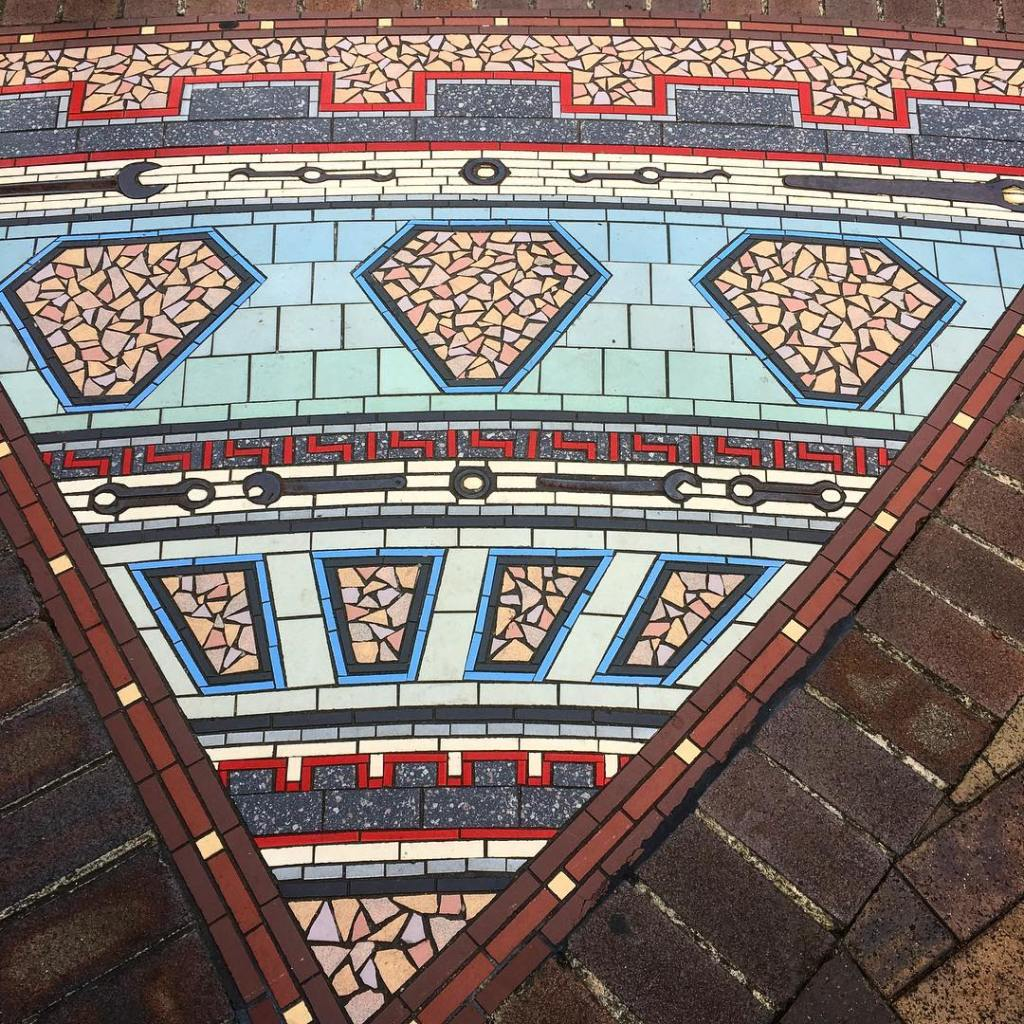 I saw this mosaic on the ground while walking throughhellip