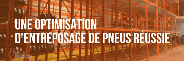 Optimisation entreposage de pneus