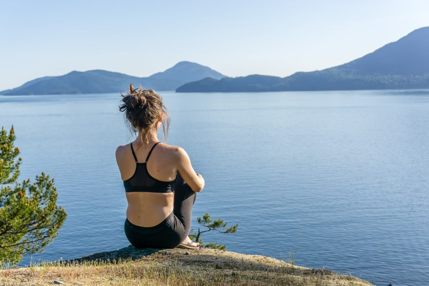 Yoga on Sea to Sky hwy
