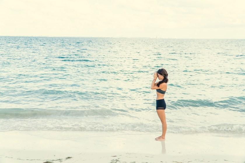 Beach Yoga in Mexico