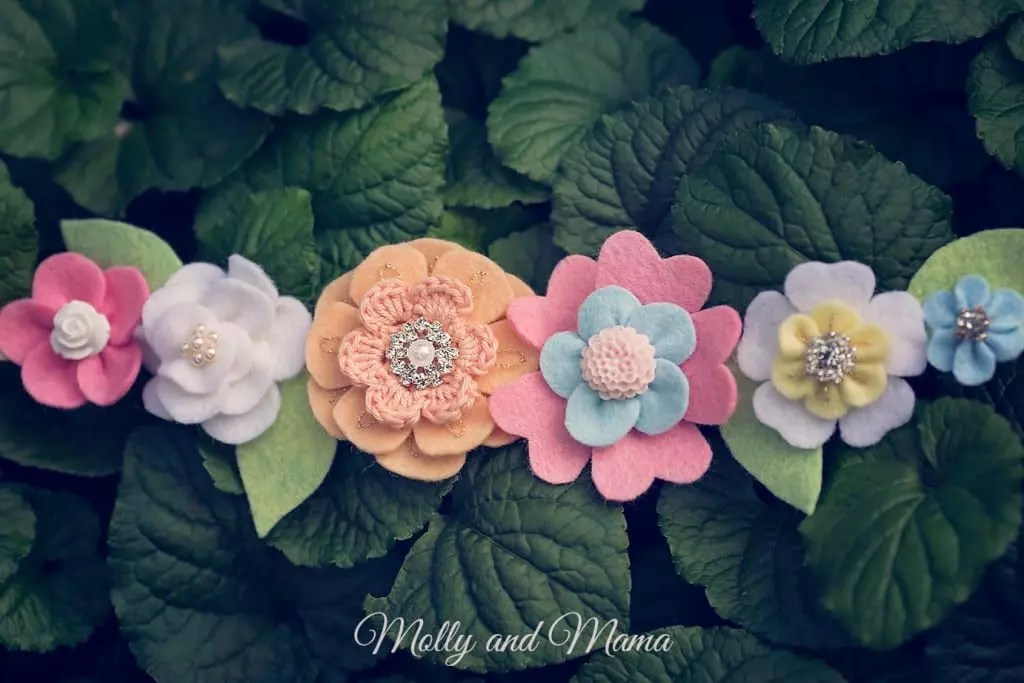Spring Felt Flower Crown by Molly and Mama