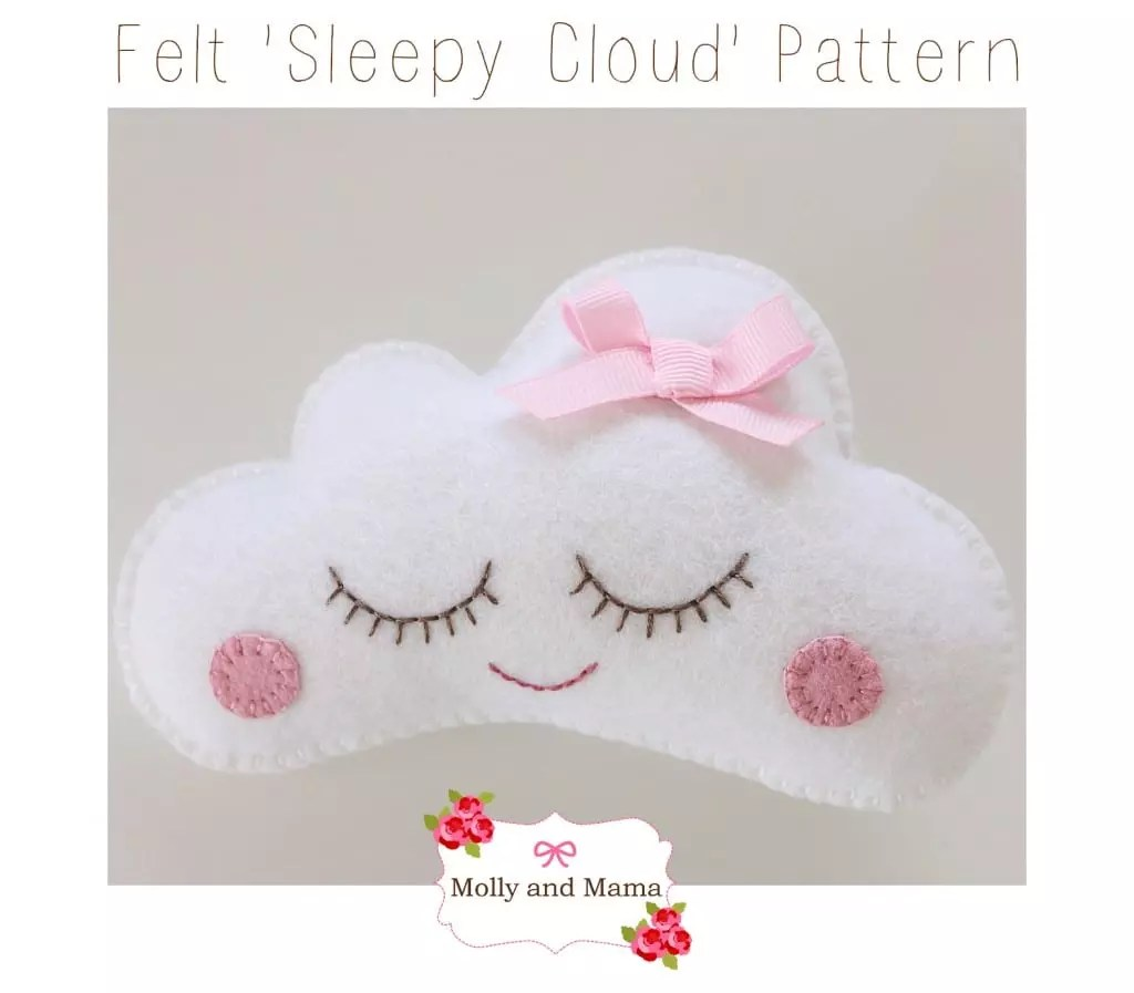 Felt 'Sleepy Cloud' Pattern by Molly and Mama