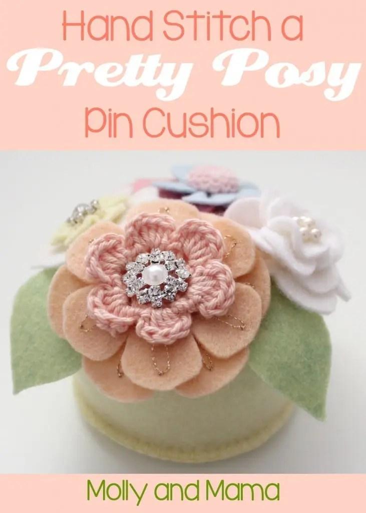Hand Stitch a Pretty Posy - a tutorial by Molly and Mama