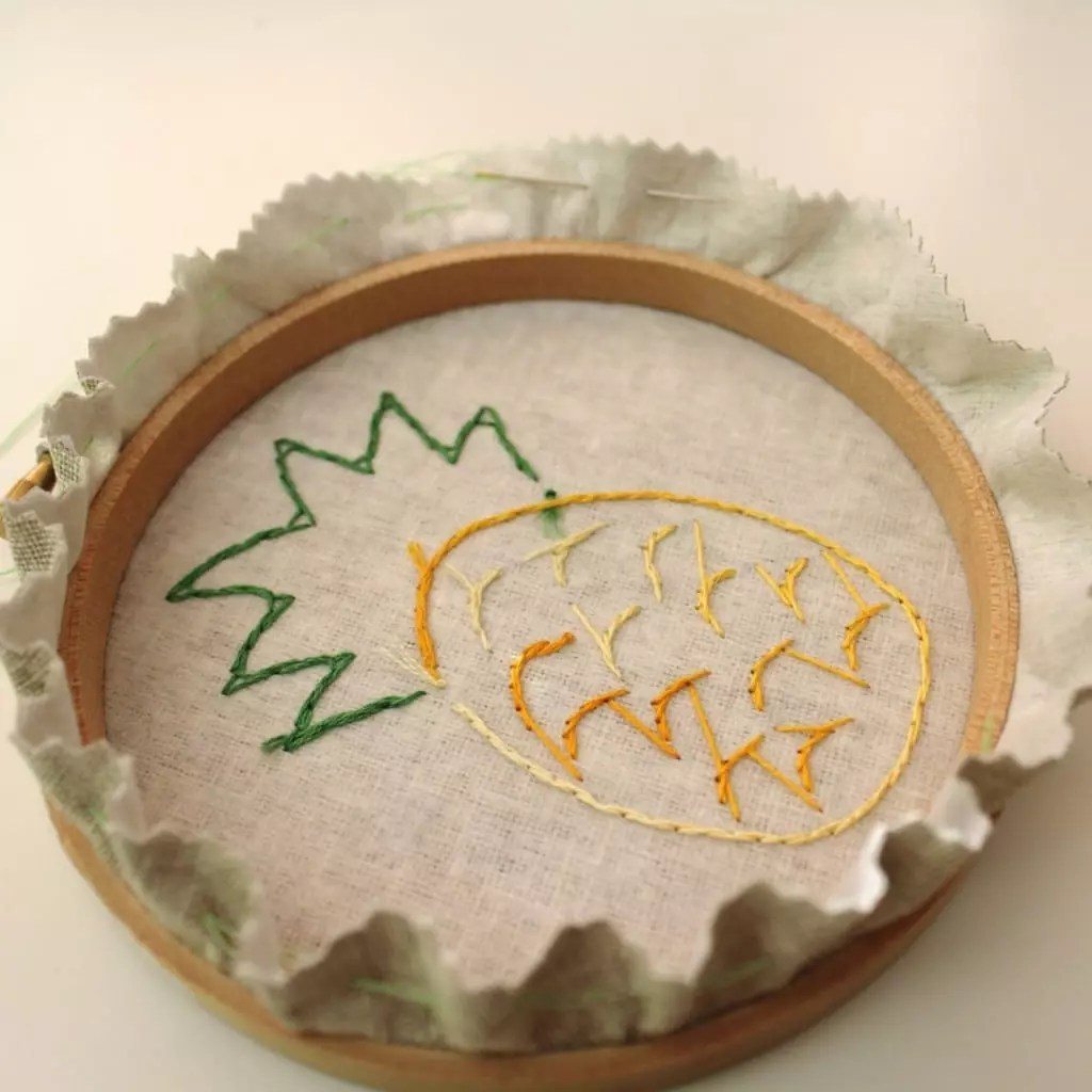 Hand stitch a hoop art project by Molly and Mama