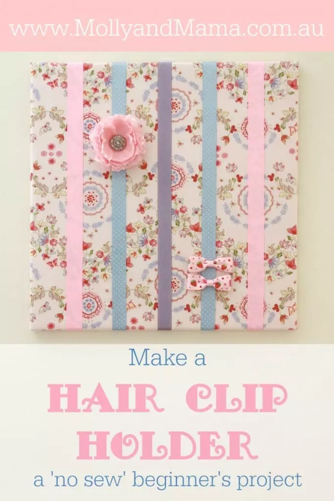 Make a Hair Clip Holder - by Molly and Mama