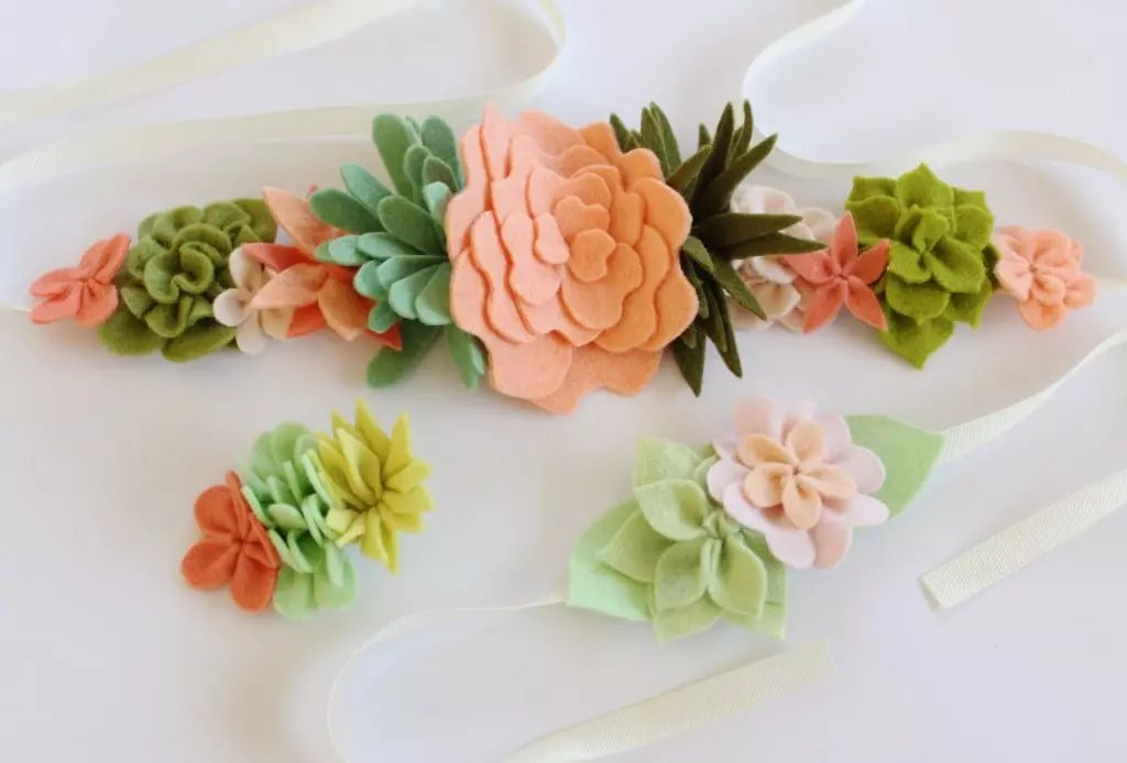 The Coco Flower Crown, Wristlet and Hair Clip by Molly and Mama