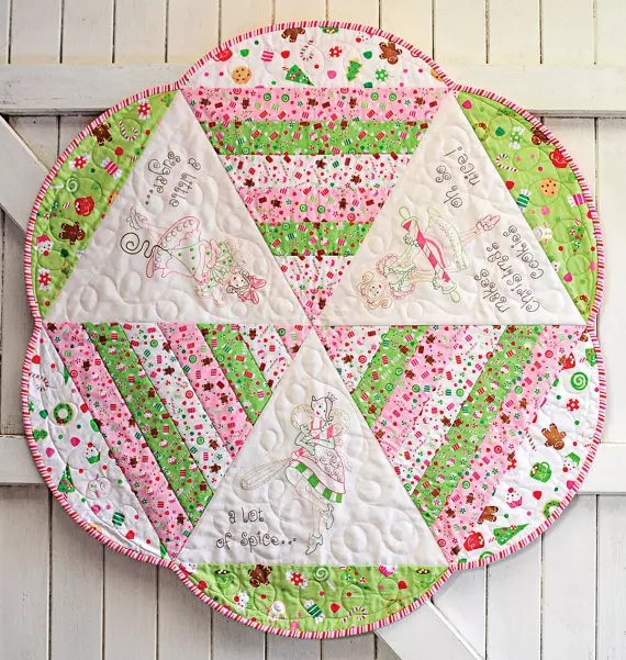 Angel table topper from Quilting Gems