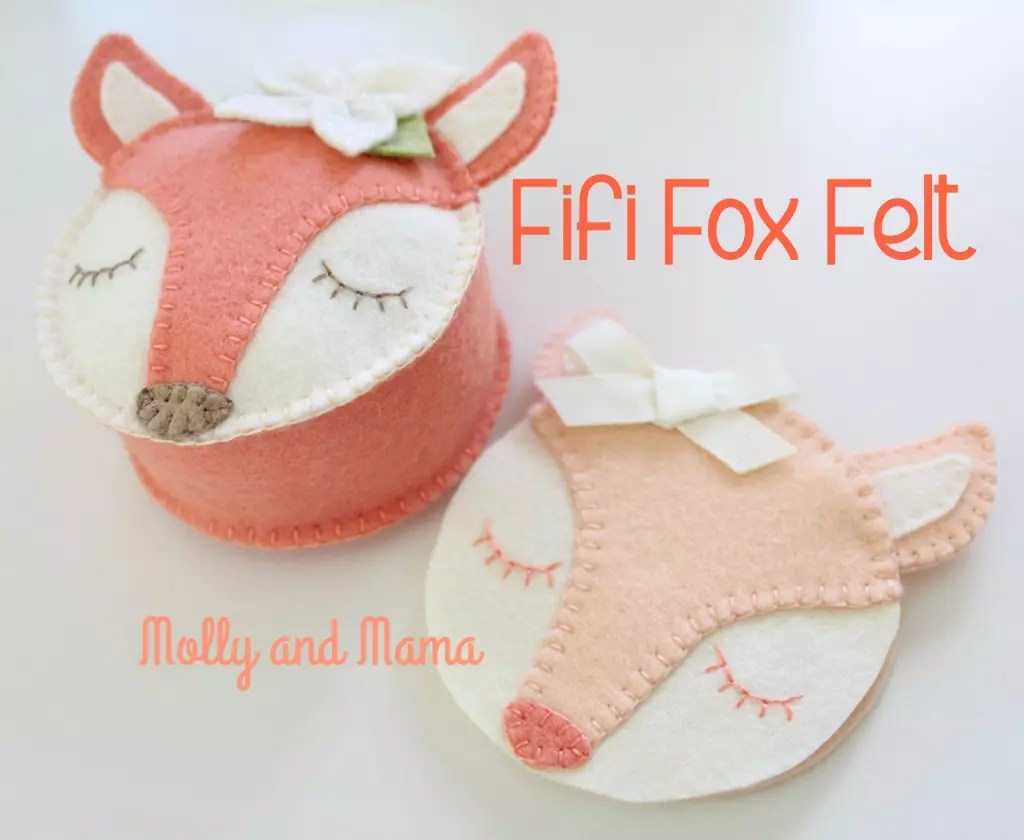 Molly and Mama Fifi Fox Pin Cushion Pattern and free needle book tutorial