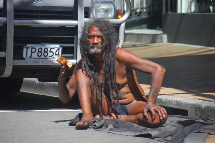 photo of blanket man