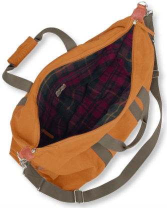 image of the inside of duffle bag
