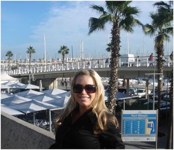 photo of Gretta at Port Olimpic