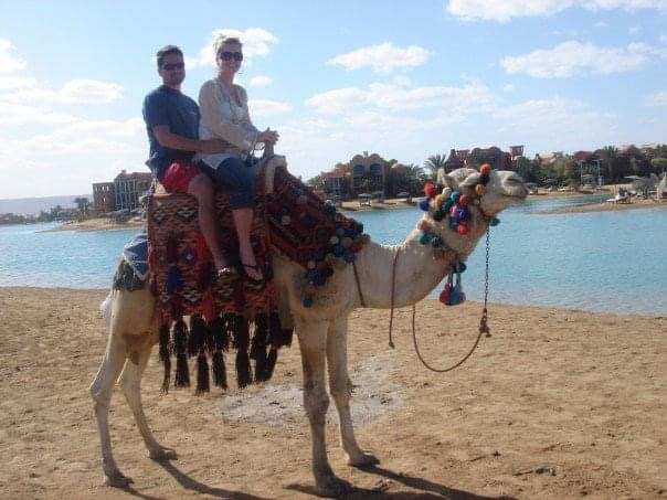 photo of Gretta on a camel