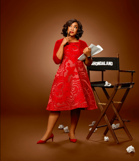 photo of Shonda Rhimes with Shondaland director's chair