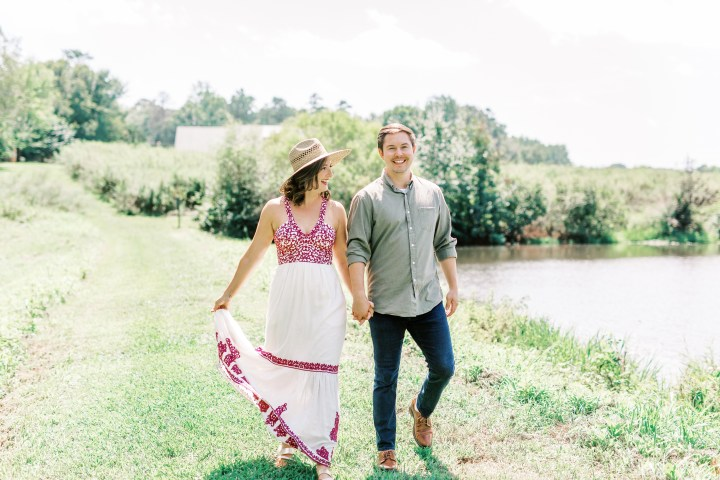 photo of couple in Clarks Creek Nature Preserve