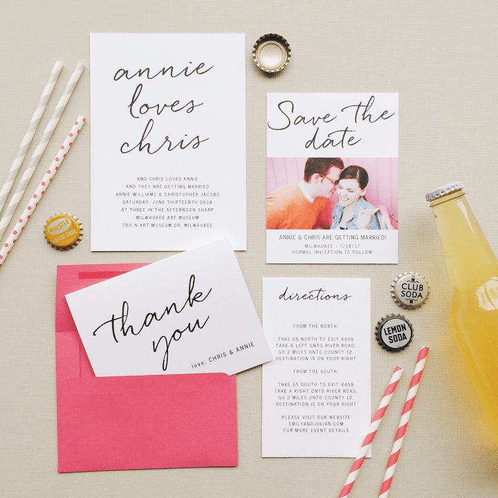photo of Basic Invite wedding stationery