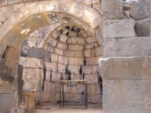 Apse of old temple/church -- Drues light candles here