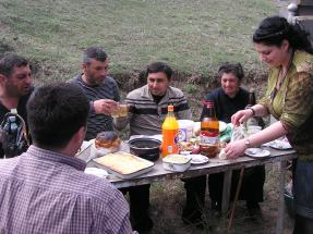 Graveside picnic
