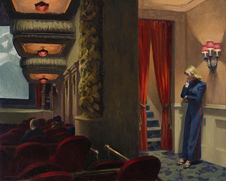 """New York Movie"" (1939) by Edward Hopper"