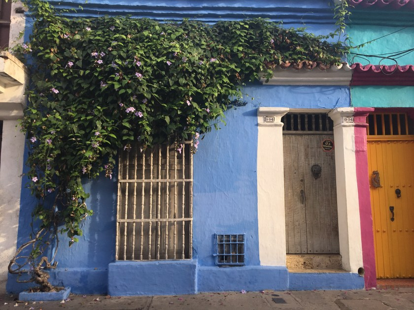 colored buildings in cartagena colombia