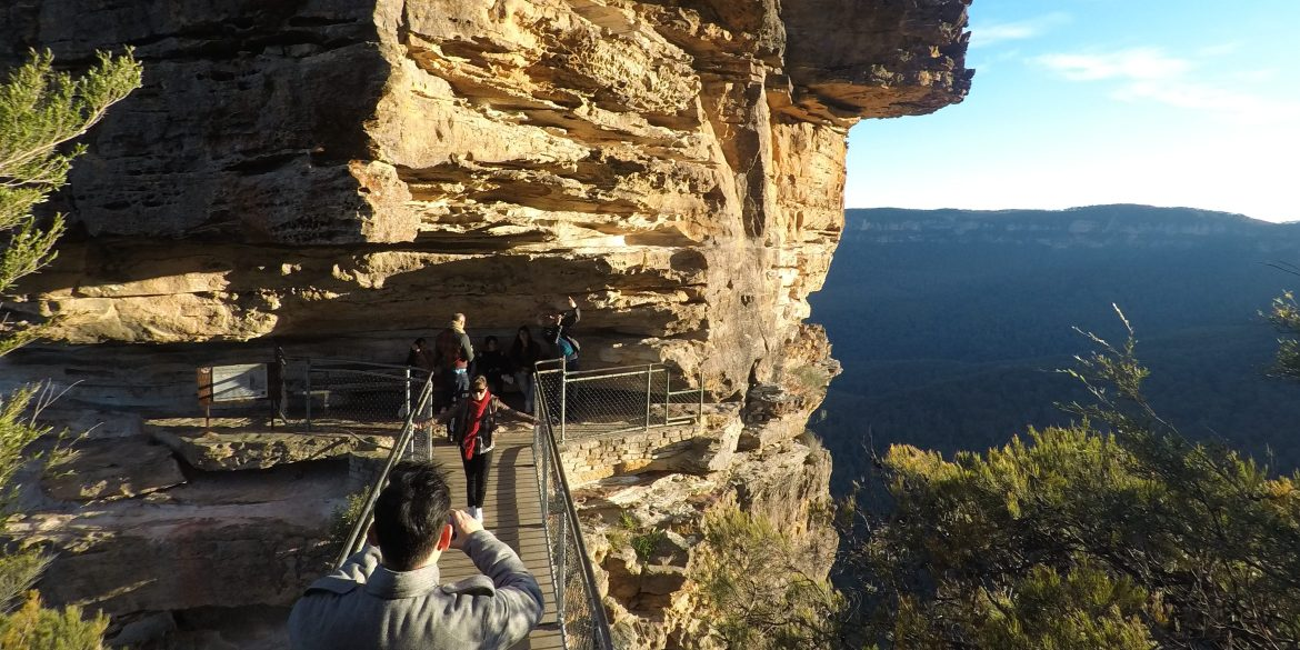 the honeymoon bridge in the blue mountains Australia