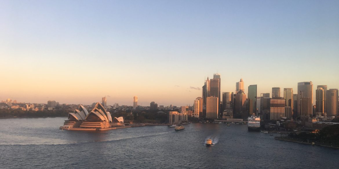 View of the Opera House from Harbour Bridge